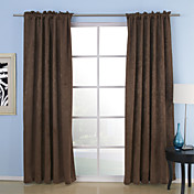 (Two Panels) Solid Polyester Casual Blackout Thermal Curtains