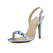 Elegant Leatherette With Rhinestone Sandals (More Colors)