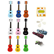 Yadars - Soprano Ukulele with Gig Bag/Pitch Pipe/Picks/Capo (Multi-color)