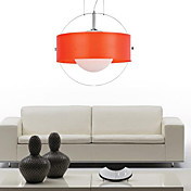 Artistic Pendant Light with 1 Light in Red Featured Shade