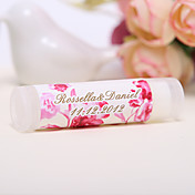 Personlized Lip Balm Tube Favors - Rose (Set of 12)