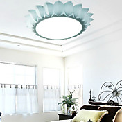 Ceiling Light in Flower Shaped Shade Blue