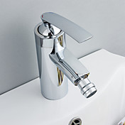contemporaine robinet de bidet en laiton - fini chrome