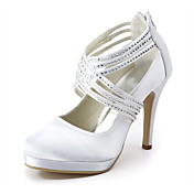 YUSRA - Escarpins Mariage Talon Aiguille Satin