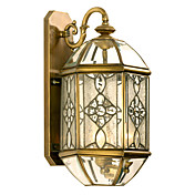 3-Light Golden Wall Light in Antique Style