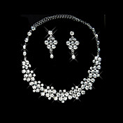 Magic Ladies Necklace and Earrings Jewelry Set (50 cm)
