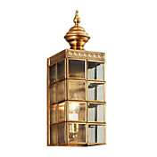 1 - Light Antique Style Golden Wall Light