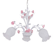 Floral Ceiling Light with 3 Lights