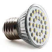 E27 3528 SMD 30-LED White 70-90LM Light Bulb (230V, 1-2W)