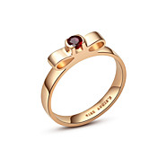 Luxurious Bow Design Ladies' Ruby Ring (More Materials)