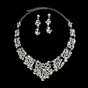 Stylish Ladies' Jewelry Set Including Necklace and Earrings