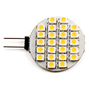 G4 1-1.5W 24x3528 SMD 50-60LM 2800-3200K Warm White Light LED Spot Bulb (12V)