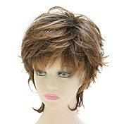 Capless Synthetic Brown Short Curly Wig