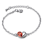 Austrian Crystal With Real Platinum Plated Anti-Allergy Ladies Bracelet Love Passphrase (More Colors)