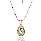 18K Gorgeous Fashion Rhinestone Angel's Tear Drop Alloy Necklace (More Colors)