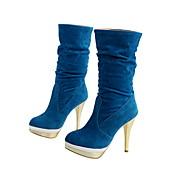 Leatherette Stiletto Heel Mid-Calf Boots Party / Evening Shoes (More Colors)
