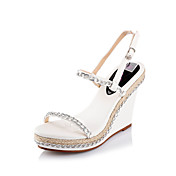Leatherette Wedge Heel Sandals / Pumps Party / Evening Shoes With Chain (More Colors)