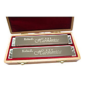 Kaine - (K2401-11) Professional Tremolo Thicken Harmonica 2 keys Pack/24 Holes/24 Tones