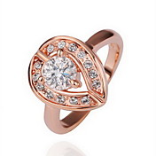 Gorgeous Rhinestone 18K Gold Big Heart Fashion Ring