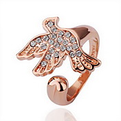 Gorgeous Rhinestone 18K Gold Plate Bird Fashion Ring