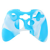 beschermende dual-color siliconen case voor de Xbox 360 controller (wit en blauw)