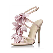 Leatherette Stiletto Heel Sandals / Pumps Party / Evening Shoes With Flower