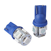 T10 0.18Wx5 5-SMD 5050 LED Car Reading Light,DC 12V/Pair(Blue)