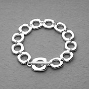Fashion Silver Plated All Square Unisex Bracelet