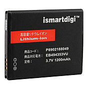 iSmart 1200mah batterie pour samsung s5570 galaxie mini-vague de 575, s5750e, Wave 723, s7230e