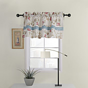 Beige Floral Tailored Valance