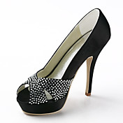 sateng stiletto hl Peep toe sandaler med sequin bryllup sko (flere farger)