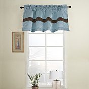 Blue Casual Tailored Valance