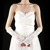 Lace Half Finger Elbow Length With Embroidery Bridal Gloves (More Colors)