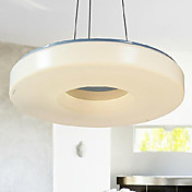 40W Comtemporary Acrylic Pendant Light with 1 Light in Ring Feature