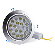 18W 1620-1800LM 6000-6500K Natural White Light LED Ceiling Bulb (85-265V)