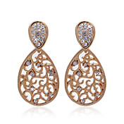 Elegant 18K Gold Plated Crystal Stud Fashion Earrings