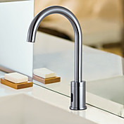 Brass Sensor Chrome Finish Bathroom Sink Faucet