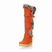 Suede Flat Heel Mid-Calf Boots Party/Evening Shoes (More Colors)