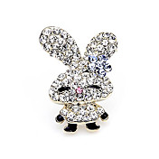 Gorgeous Alloy With Rhinestones Rabbit Brooch