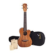 Rainie - (t-40c) high-grand massief acacia koa tenor ukulele met gig bag / tuner