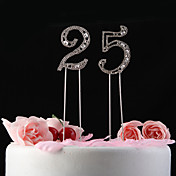 Shining Rhinestones With Pattern Nunmer Cake Topper  (Stick Length 12cm)