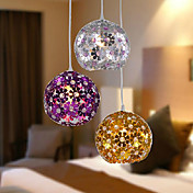 Comtemporary Metall Pendelleuchten mit 3 Lights in Floral Shades