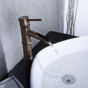 Sprinkle by Lightinthebox - Antique Bronze Waterfall Bathroom Sink Faucet (Bamboo Shape Design)