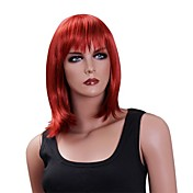 Capless High Quality Synthetic Medium Straight Party Wigs