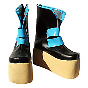 Cosplay Shoes Inspired by Vocaloid Miku Black PU Leather Platform