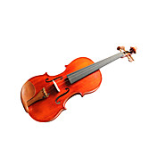 Violintine - (V25) 4/4 Professional-Grade Solid Spruce & 1-Piece Flame Maple Violin with Case/Bow