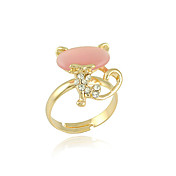 Elegant Alloy Kitty Design Fashion Ring Med Crystal (Flere farver)