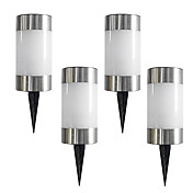 Set of 4 Solar LED Light Garden Path Marker Mini Bollard Patio Lamp