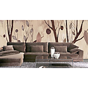 Brown Trees Contemporary Graphics Nature Mural