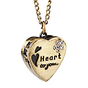 Nydelig Alloy Sweet Heart Design Necklace Watch